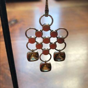 Gorgeous sterling Dot cognac quartz drop earrings